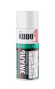Краска-аэрозоль KUDO белая глянцевая KU-1001