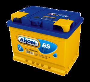 Аккумулятор 6 СТ 65 Ач VL  АКОМ  Euro