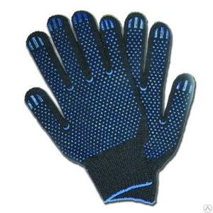Перчатки 4-ка ЧЕРНЫЕ (с ПВХ)