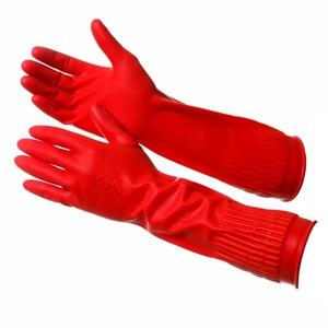 Перчатки РОЗЕ/длинные резиновые