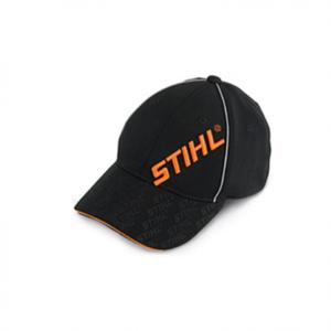 Кепка STIHL с вышивкой по диагонали, черная