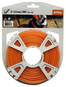 Струна 2,4 мм х 41 м STIHL круглого сечения, оранжевый