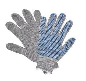 Перчатки 5-ка СЕРЫЕ (с ПВХ)
