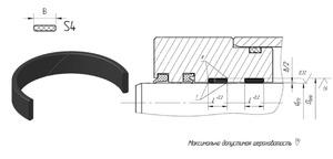 Б803 Кольцо поршня S4 (PОМ) 32-36/9,7 (Полиамид)