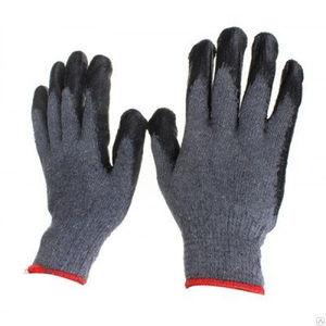 Перчатки ЛЮКС серые обливные