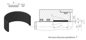 А805 Кольцо поршня S2 (PA) 56-62/20.2 (Полиамид)