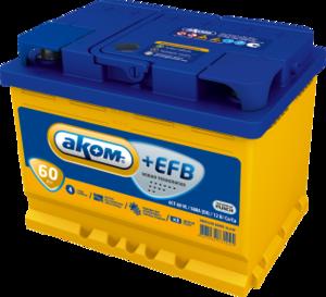 Аккумулятор 6 СТ 60  АКОМ EFB VL Euro