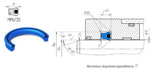 А415 Манжета штока MPU/2S (TPE) 080-100-17 (Полиуретан)