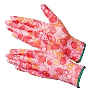 Садовые перчатки расцветки Cherry с нитрилом