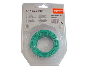 Струна 2,0 мм x 15 м STIHL круглого сечения зелёный