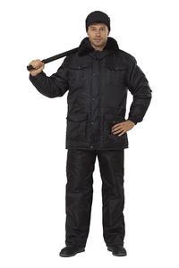 """Куртка """"Охранник"""" утепленная  черная"""