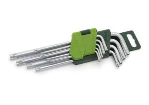 Набор ключей имбусовых, T10-T50, 9 шт., с отверстием, TORX/563591