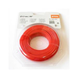 Струна 2,7 мм х 80 м STIHL пятиугольного сечения красный