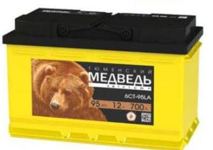 Аккумулятор 6 СТ 95 АПЗ Тюменский медведь
