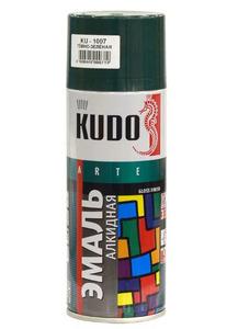 Краска-аэрозоль KUDO темно-зеленая