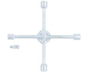 """Ключ-крест балонный, 17 х 19 х 21 х 22 х1/2 , усиленный, с переходником на 1/2"""", STELS"""